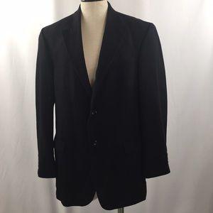 Men's wool sport coat black 44L